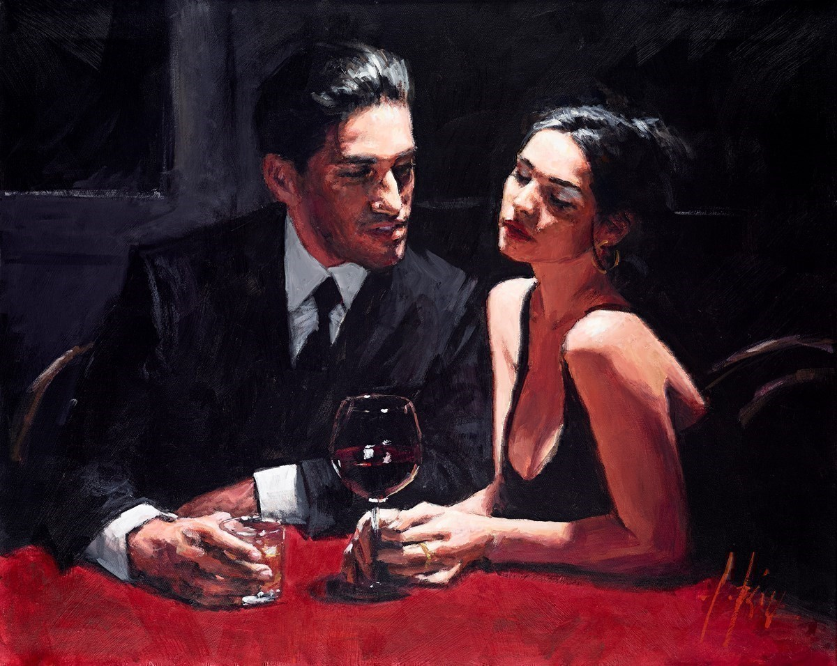 El Verso II by Fabian Perez - Original on Stretch Canvas sized 30x24 inches. Available from Whitewall Galleries